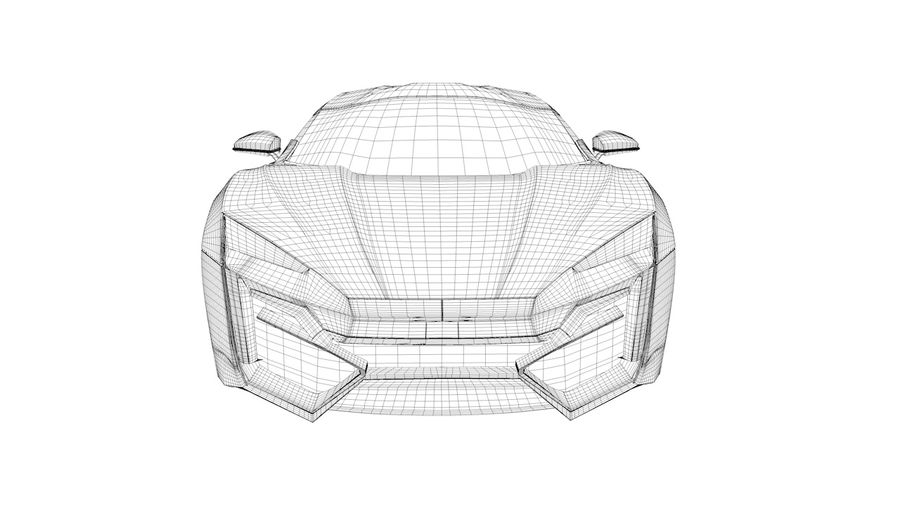 Hypersport de Lykan royalty-free 3d model - Preview no. 5