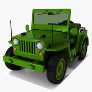 Toon Military Jeep 3d model
