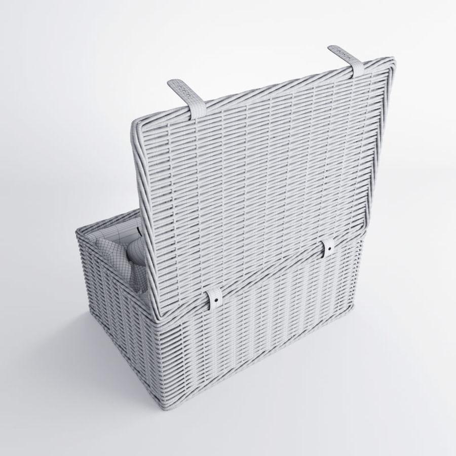 Корзина для пикника с аксессуарами royalty-free 3d model - Preview no. 11