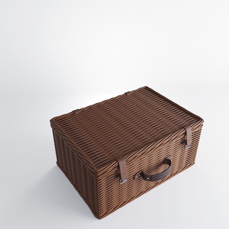 Корзина для пикника с аксессуарами royalty-free 3d model - Preview no. 2