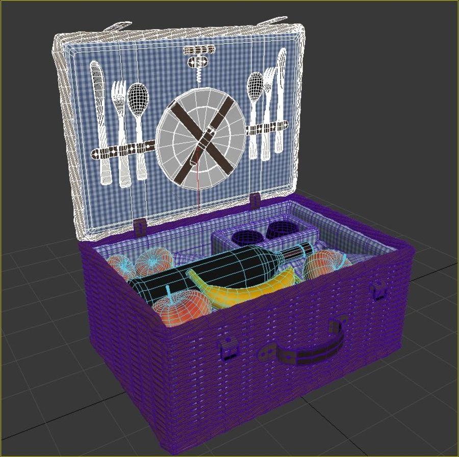 Корзина для пикника с аксессуарами royalty-free 3d model - Preview no. 12