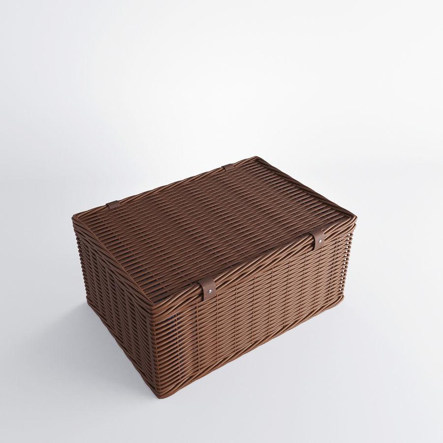 Корзина для пикника с аксессуарами royalty-free 3d model - Preview no. 5