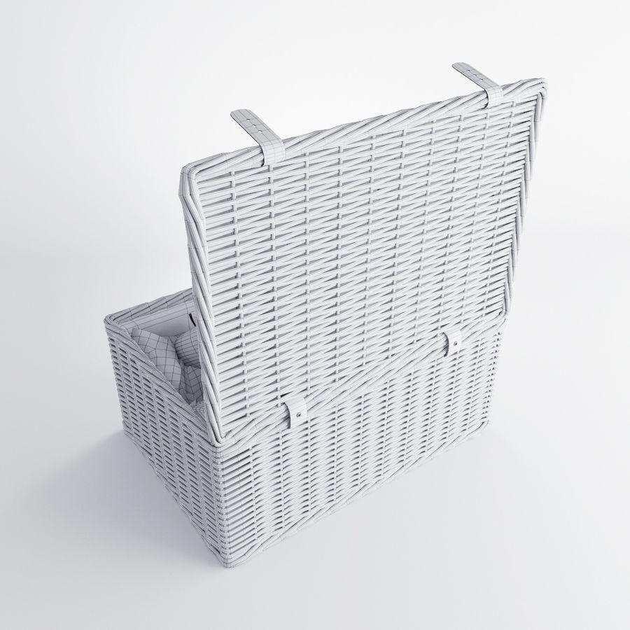 Корзина для пикника с аксессуарами royalty-free 3d model - Preview no. 10