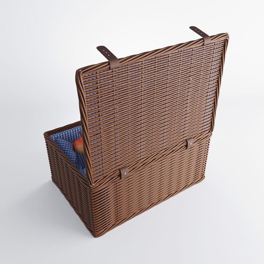 Корзина для пикника с аксессуарами royalty-free 3d model - Preview no. 4