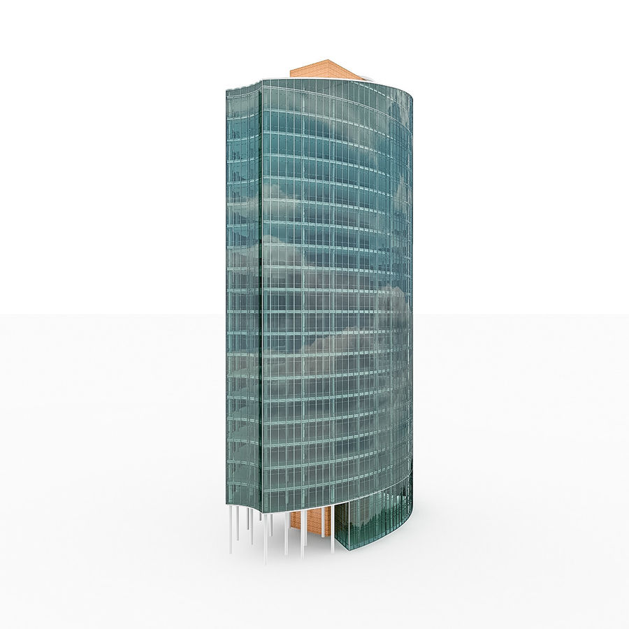 City Office Building 2 royalty-free 3d model - Preview no. 2
