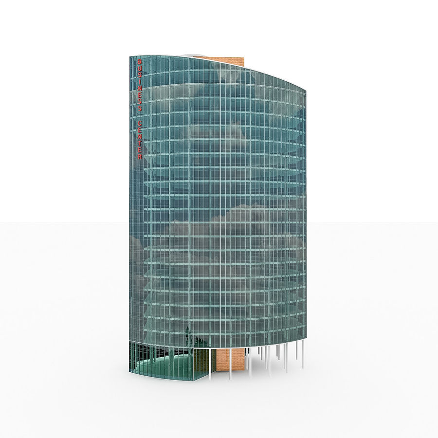 City Office Building 2 royalty-free 3d model - Preview no. 3