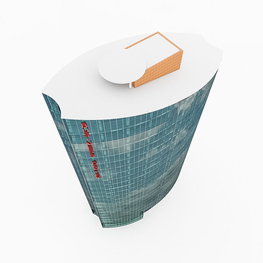 City Office Building 2 royalty-free 3d model - Preview no. 6
