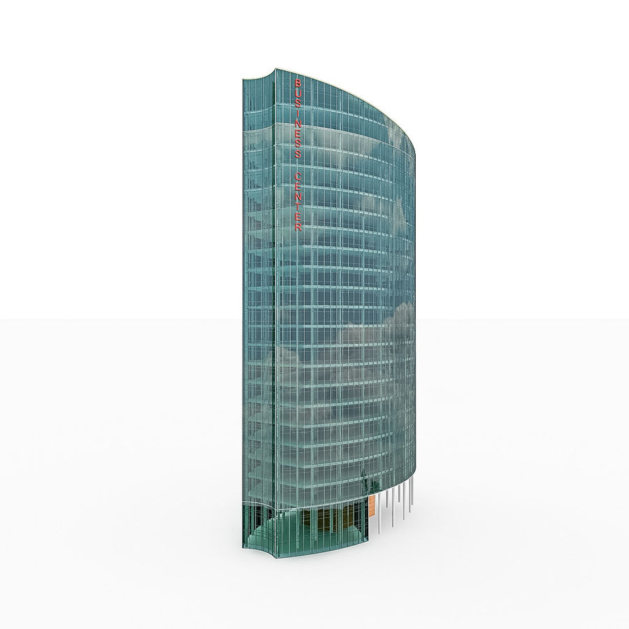 City Office Building 2 royalty-free 3d model - Preview no. 1