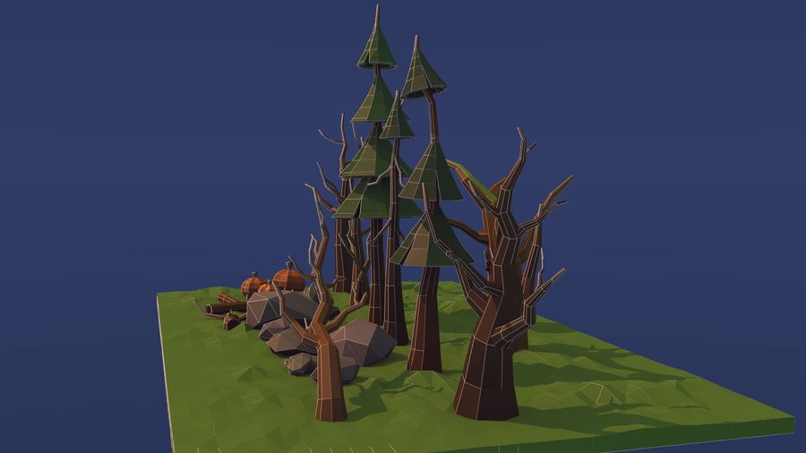 Forest asset royalty-free 3d model - Preview no. 9