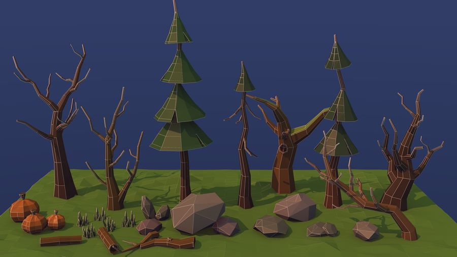 Forest asset royalty-free 3d model - Preview no. 7