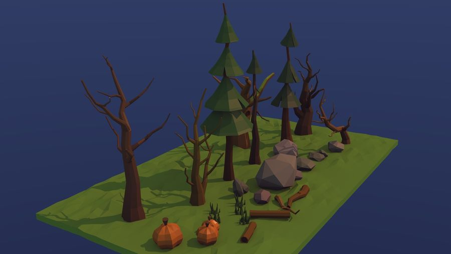 Forest asset royalty-free 3d model - Preview no. 4