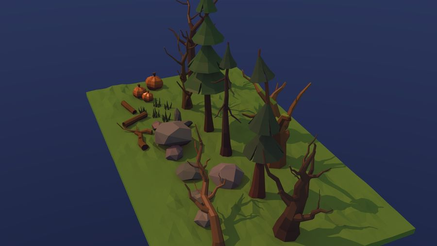 Forest asset royalty-free 3d model - Preview no. 5