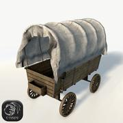 Wagon game ready 3d model