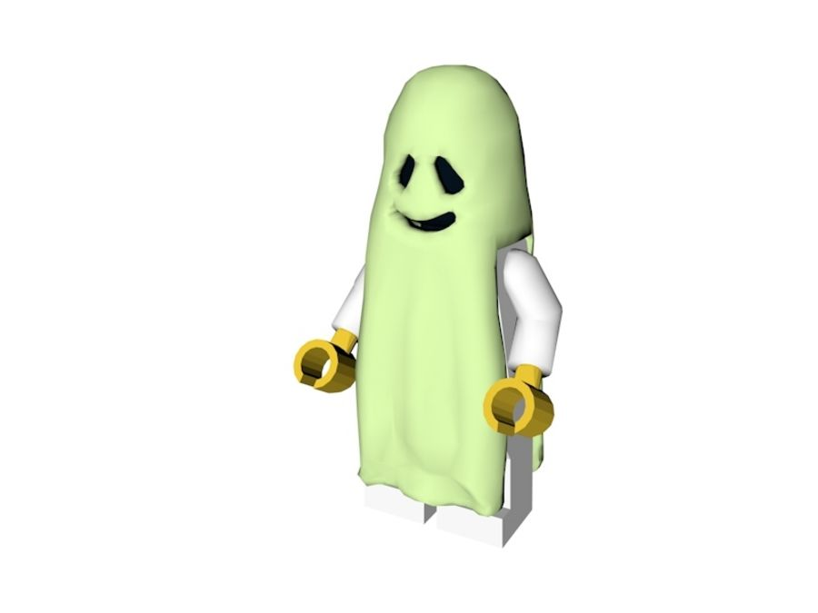 LEGO GHOST LOW POLY royalty-free 3d model - Preview no. 1
