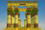 Egyptian Temple II 3d model