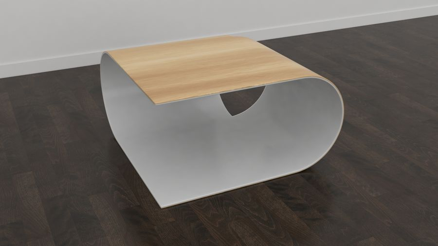 Contemporary Coffee Table royalty-free 3d model - Preview no. 6