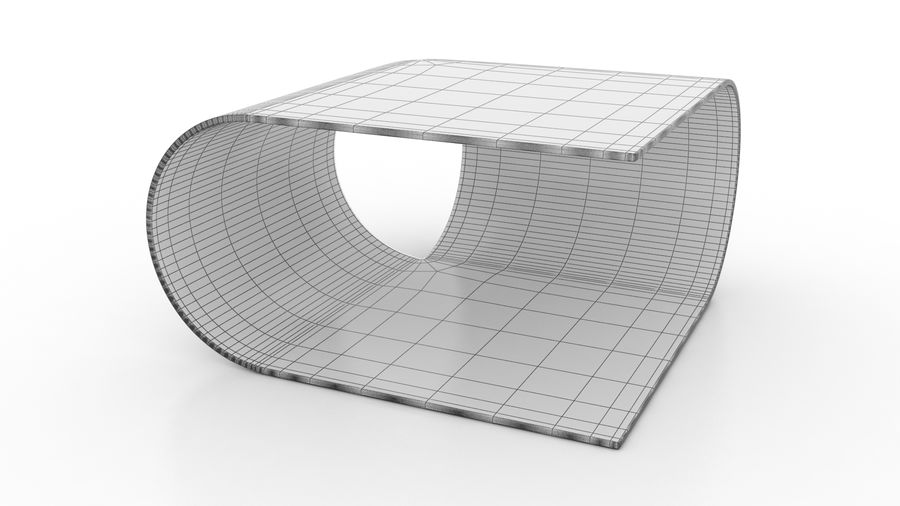 Contemporary Coffee Table royalty-free 3d model - Preview no. 7