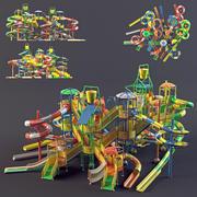 water Park slides1 3d model