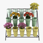 Flower Bucket Display Stand 3d model