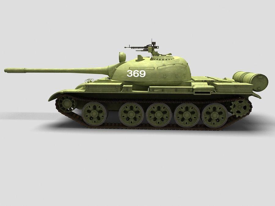 T-55 Tank royalty-free 3d model - Preview no. 5
