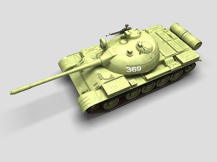 T-55 Tank royalty-free 3d model - Preview no. 6