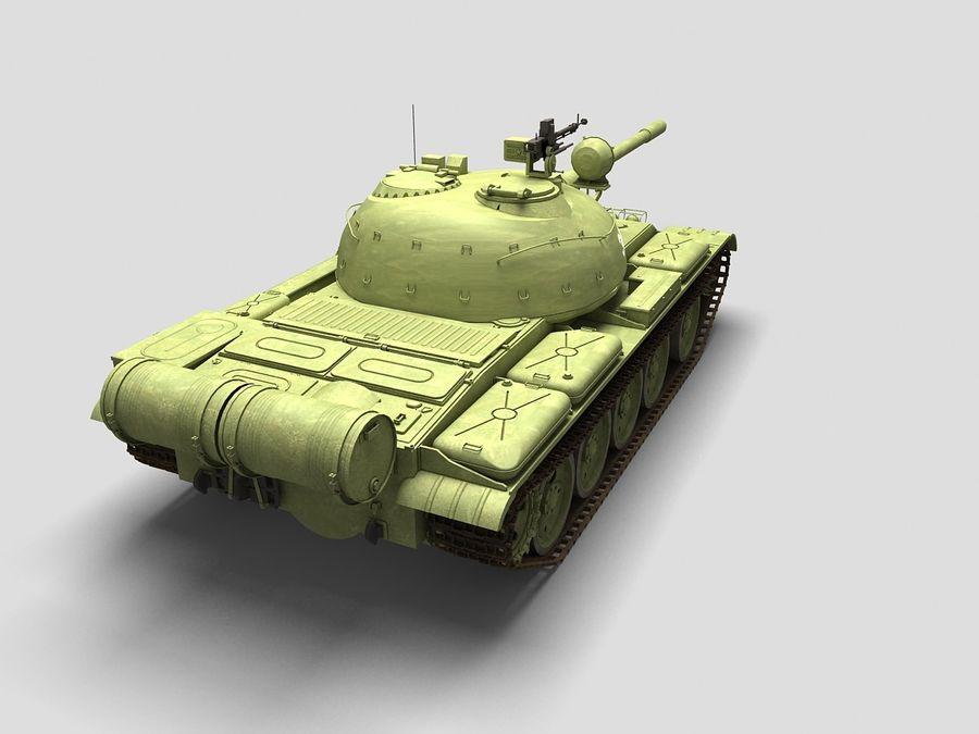 T-55 Tank royalty-free 3d model - Preview no. 4