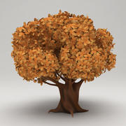 Stylized Carton Tree ( Fall ) 3d model