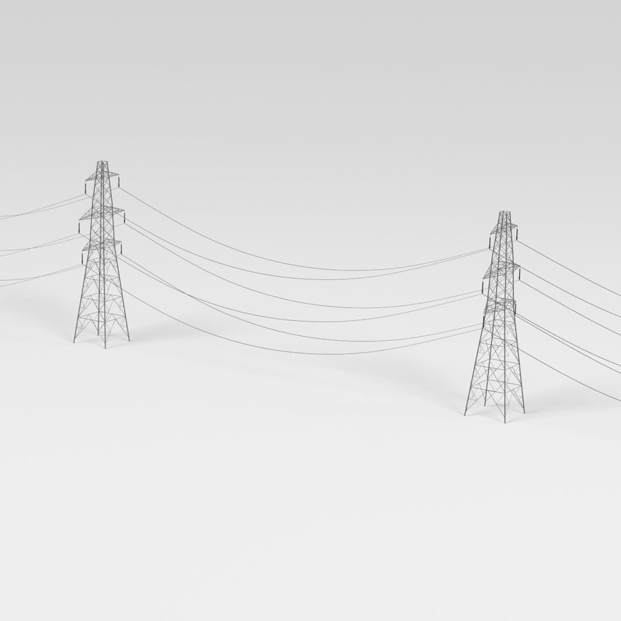 Electric Line1 royalty-free 3d model - Preview no. 6