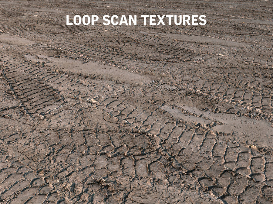 Tire Tracks Scan 16K royalty-free 3d model - Preview no. 7