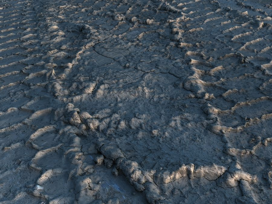 Tire Tracks Scan 16K royalty-free 3d model - Preview no. 4