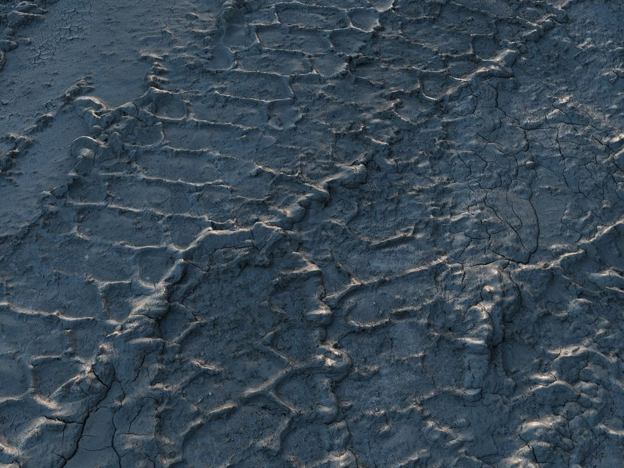 Tire Tracks Scan 16K royalty-free 3d model - Preview no. 5