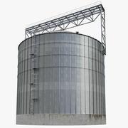 Industrial grain silo 3d model