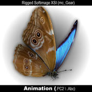 Papillon Bleu Morpho 3d model