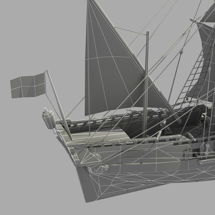 Segelschiff royalty-free 3d model - Preview no. 19