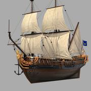 Zeilschip 3d model
