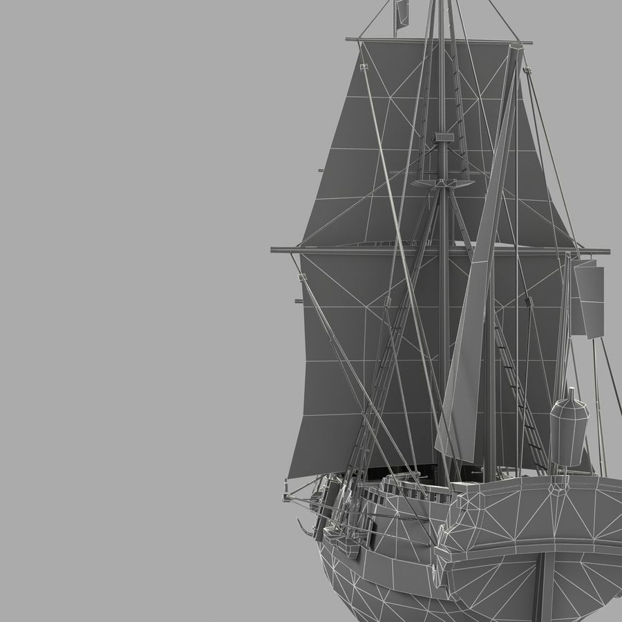 Segelschiff royalty-free 3d model - Preview no. 18