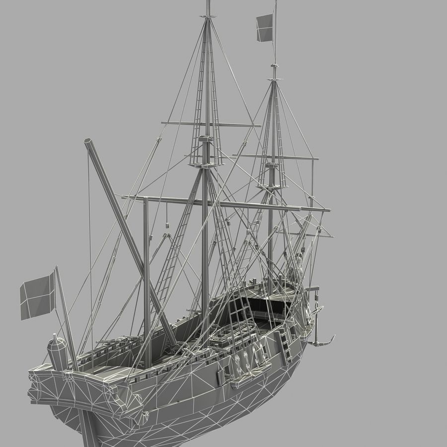 Segelschiff royalty-free 3d model - Preview no. 26
