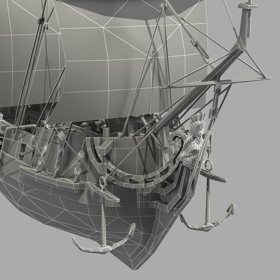Segelschiff royalty-free 3d model - Preview no. 21