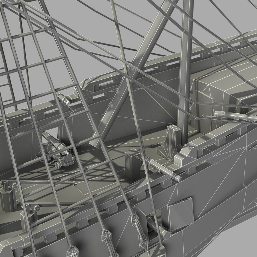 Segelschiff royalty-free 3d model - Preview no. 24