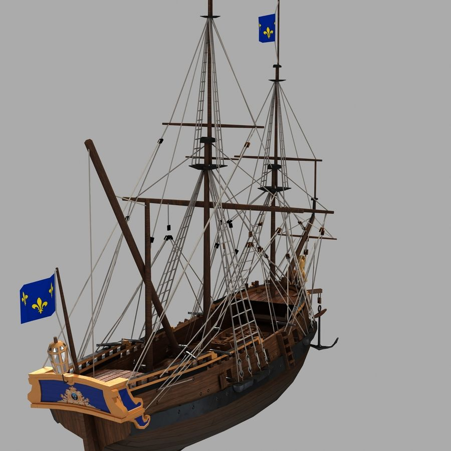 Segelschiff royalty-free 3d model - Preview no. 11