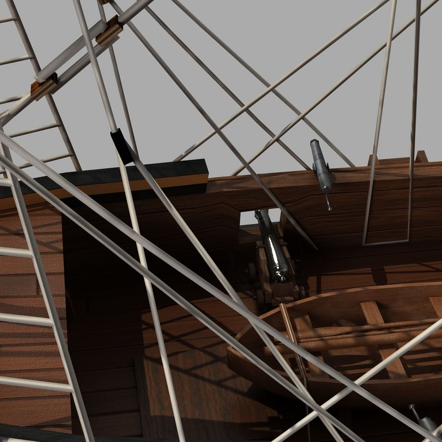 Segelschiff royalty-free 3d model - Preview no. 8