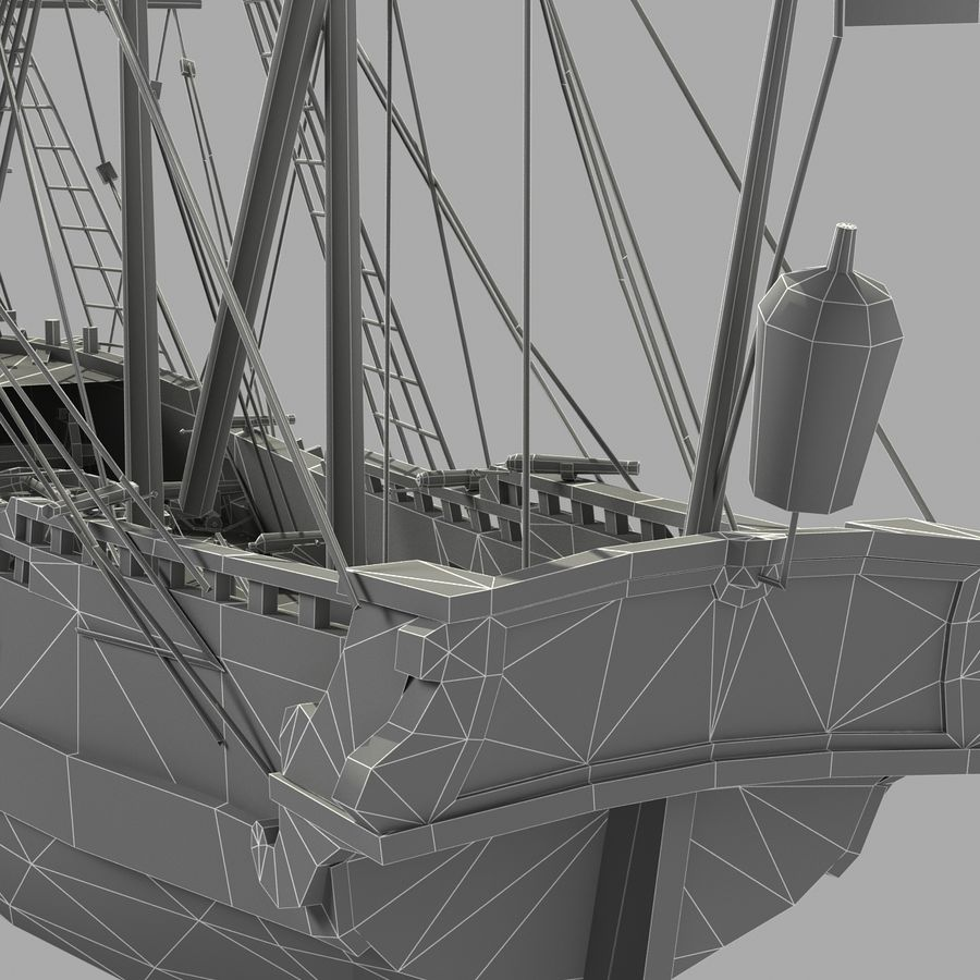 Segelschiff royalty-free 3d model - Preview no. 25