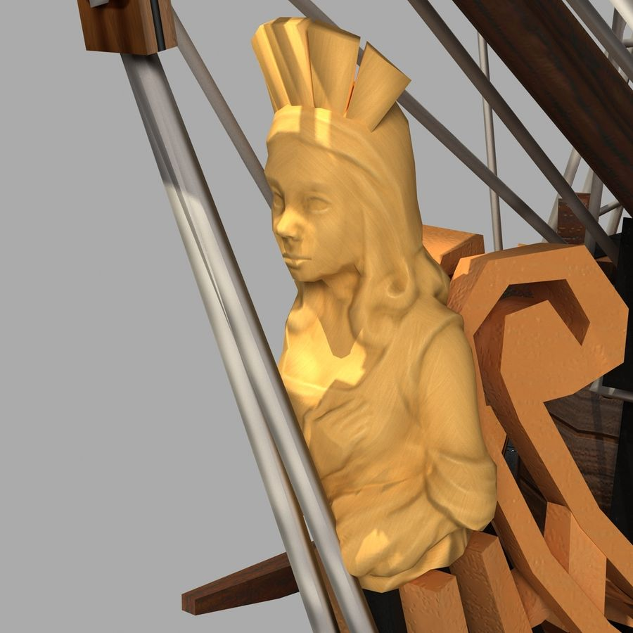 Segelschiff royalty-free 3d model - Preview no. 7