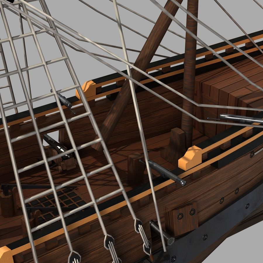 Segelschiff royalty-free 3d model - Preview no. 9