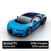 Bugatti Chiron 2016 3d model