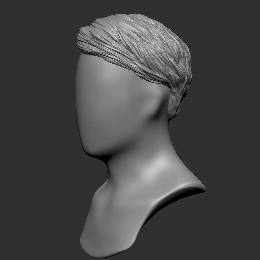 Beauty Man Hairstyle 4 royalty-free 3d model - Preview no. 3