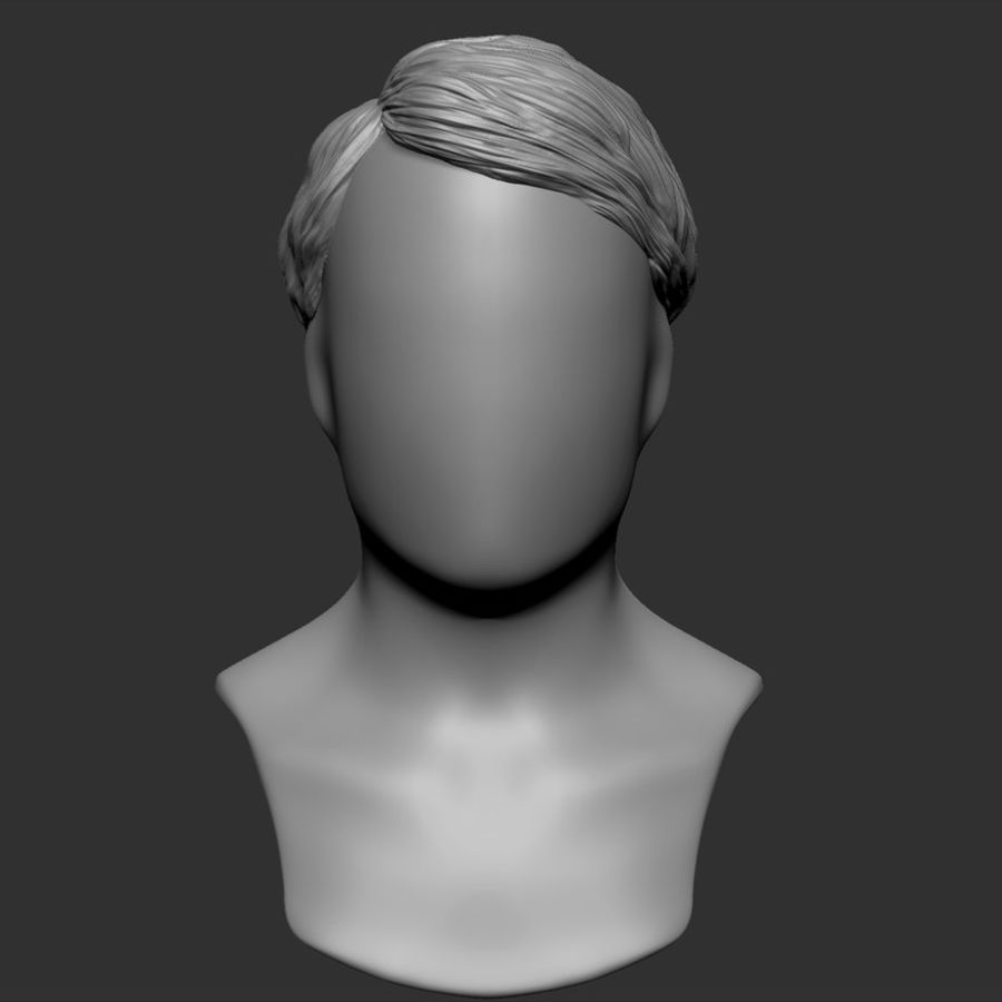 Beauty Man Hairstyle 4 royalty-free 3d model - Preview no. 1