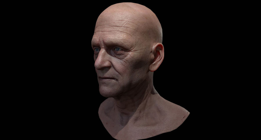 Visage masculin royalty-free 3d model - Preview no. 5