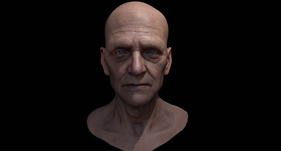 Visage masculin royalty-free 3d model - Preview no. 4