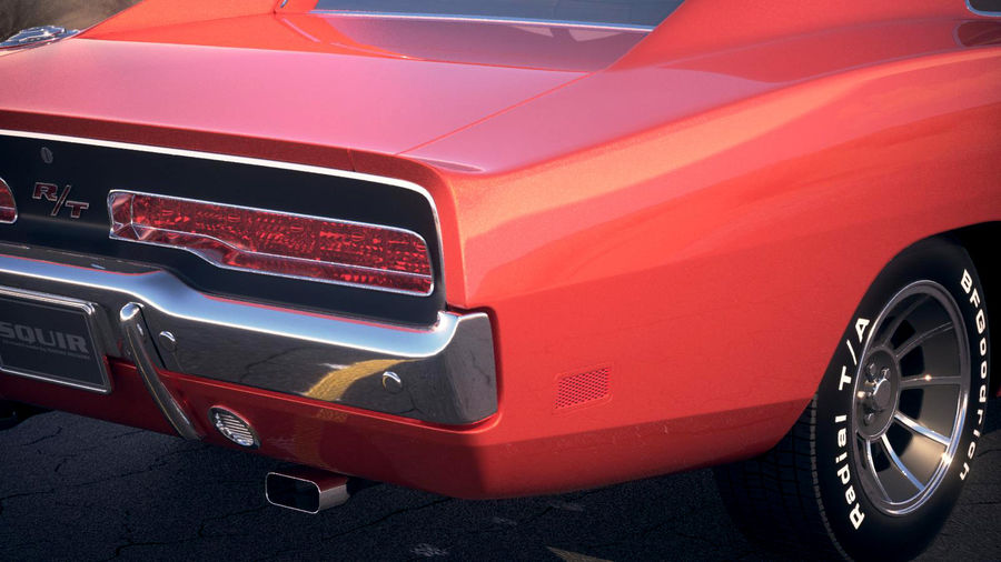 Dodge Charger 1969 General Lee royalty-free 3d model - Preview no. 7